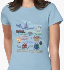 Knitting Products: I Will Knit on a Boat   Womens Fitted T-Shirt