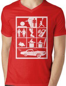 I WISH Mens V-Neck T-Shirt