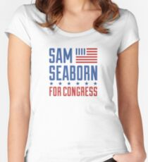 Sam Seaborn For Congress Women's Fitted Scoop T-Shirt