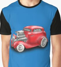 HOT ROD BEAST CHEV STYLE RED Graphic T-Shirt
