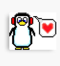 Valentine Penguin Canvas Print