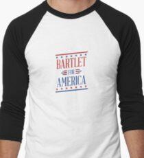 Bartlet For America  Men's Baseball ¾ T-Shirt