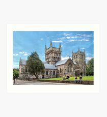 Wimborne Minster. Art Print