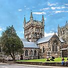 Wimborne Minster. by Irene  Burdell