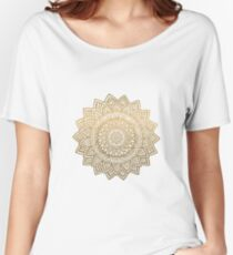 Mandala gold  Women's Relaxed Fit T-Shirt