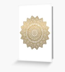 Mandala gold  Greeting Card