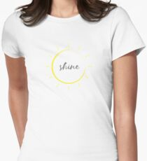 shine bright Women's Fitted T-Shirt