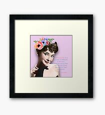 Movie star art - Audrey Hepburn Framed Print
