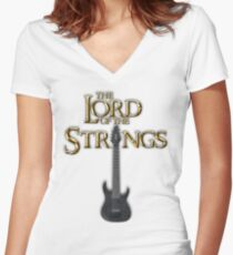 Lord of the Strings (color) Women's Fitted V-Neck T-Shirt