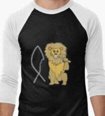 feed them to the lions Men's Baseball ¾ T-Shirt