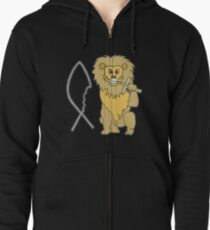feed them to the lions Zipped Hoodie