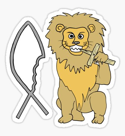 feed them to the lions Sticker