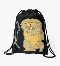 feed them to the lions Drawstring Bag