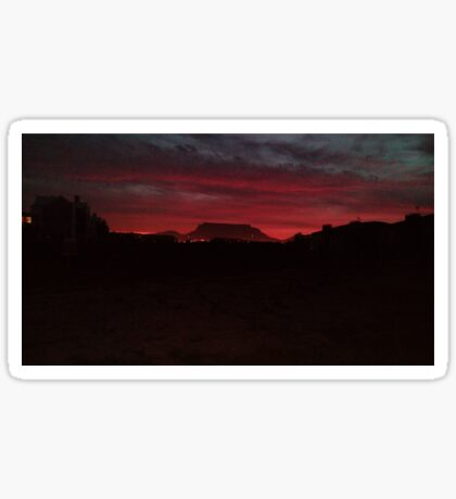 Fiery Sunset - Table Mountain Sticker