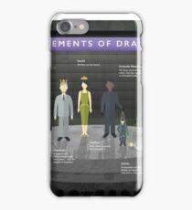 Elements of Drama Infographic Poster iPhone Case/Skin