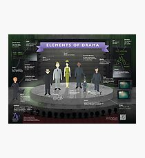 Elements of Drama Infographic Poster Photographic Print