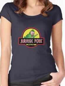 Jurassic Pork Women's Fitted Scoop T-Shirt