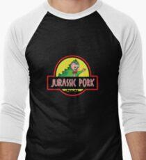 Jurassic Pork Men's Baseball ¾ T-Shirt