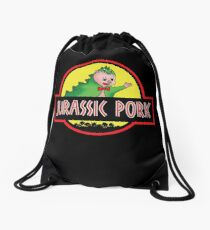 Jurassic Pork Drawstring Bag
