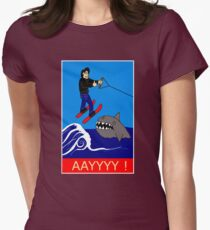 Jumping the Shark Womens Fitted T-Shirt