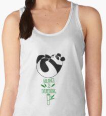 Balance Is Everything! Tumbling panda. Women's Tank Top