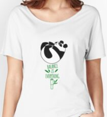 Balance Is Everything! Tumbling panda. Women's Relaxed Fit T-Shirt