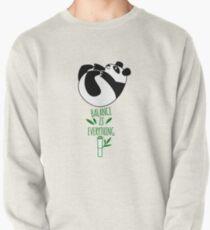 Balance ist alles! Tumbling Panda. Sweatshirt