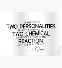 two personalities transformed - carl jung Poster
