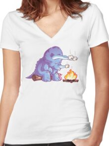 Triceramallows Women's Fitted V-Neck T-Shirt