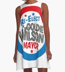 Back to the Future 'Re-Elect Mayor Goldie Wilson' design A-Line Dress