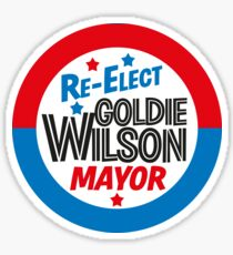 Back to the Future 'Re-Elect Mayor Goldie Wilson' design Sticker