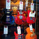 Classic Electric Guitars on Display for sale by Ed Sweetman