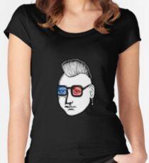 Captain Punk 3D Women's Fitted Scoop T-Shirt