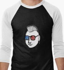 Captain Punk 3D Men's Baseball ¾ T-Shirt