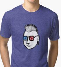 Captain Punk 3D Tri-blend T-Shirt