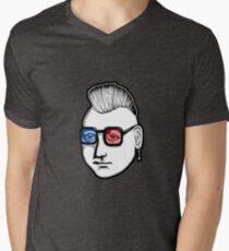Captain Punk 3D Mens V-Neck T-Shirt