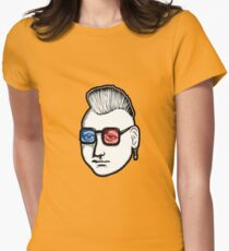 Captain Punk 3D Womens Fitted T-Shirt