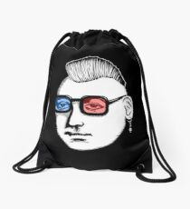 Captain Punk 3D Drawstring Bag
