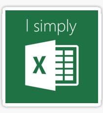 I Simply Excel Sticker
