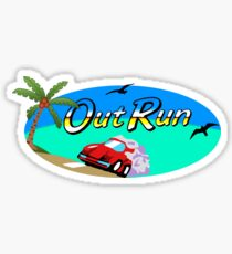 OUT RUN - SEGA ARCADE 80s LOGO Sticker