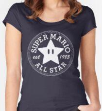Super Mario Allstar (Converse) Women's Fitted Scoop T-Shirt