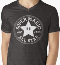 Super Mario Allstar (Converse) Men's V-Neck T-Shirt