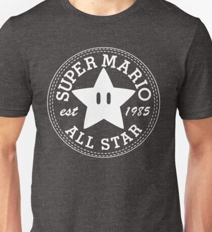 Super Mario Allstar (Converse) Unisex T-Shirt