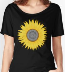 Mandala Sunflower Women's Relaxed Fit T-Shirt