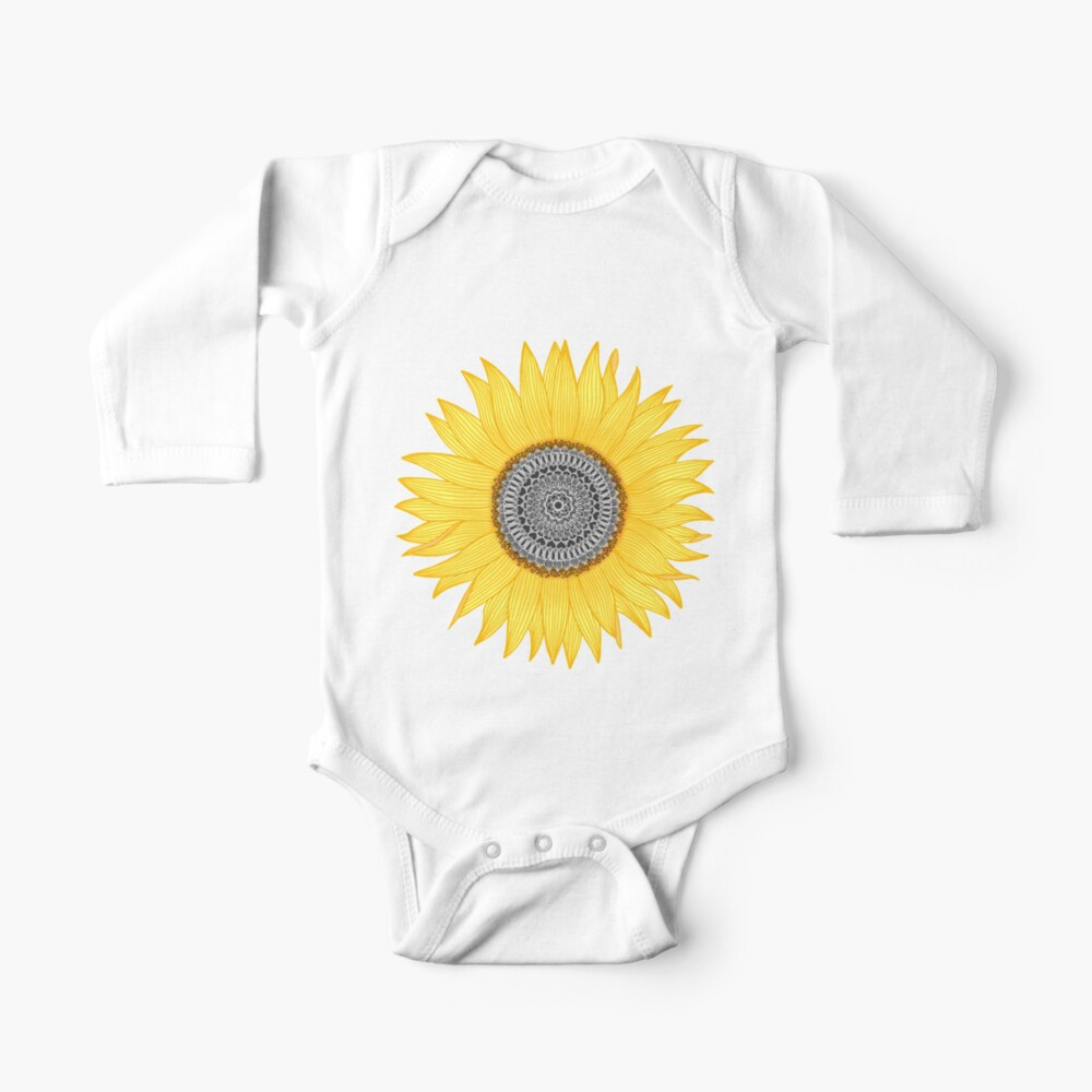 Mandala Sunflower Baby One-Piece