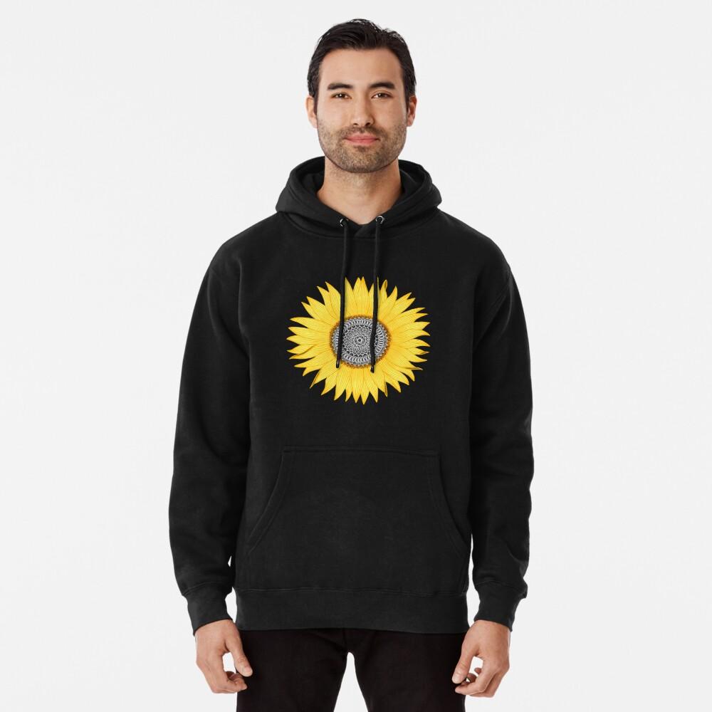 Mandala-Sonnenblume Hoodie