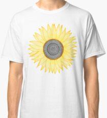 Goldene Mandala-Sonnenblume Classic T-Shirt