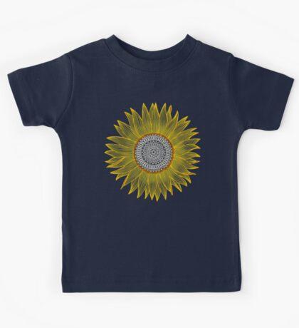 Golden Mandala Sunflower Kids Clothes
