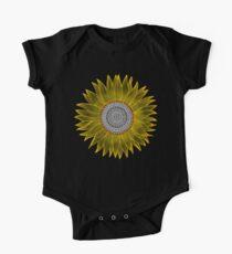 Golden Mandala Sunflower One Piece - Short Sleeve