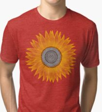 Golden Mandala Sunflower Tri-blend T-Shirt